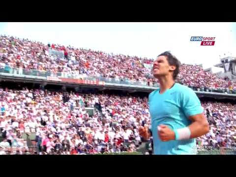 Rafael Nadal vs Novak Djokovic | French Open 2014 | Championship point | HD