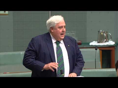 Clive Palmer's maiden speech in parliament, December 2nd 2013