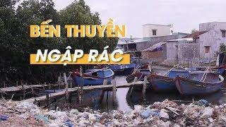 Bến thuyền ngập rác ở Bình Định