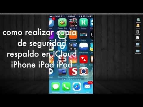 Como realizar una copia de seguridad del iPhone iPad iPod en iCloud