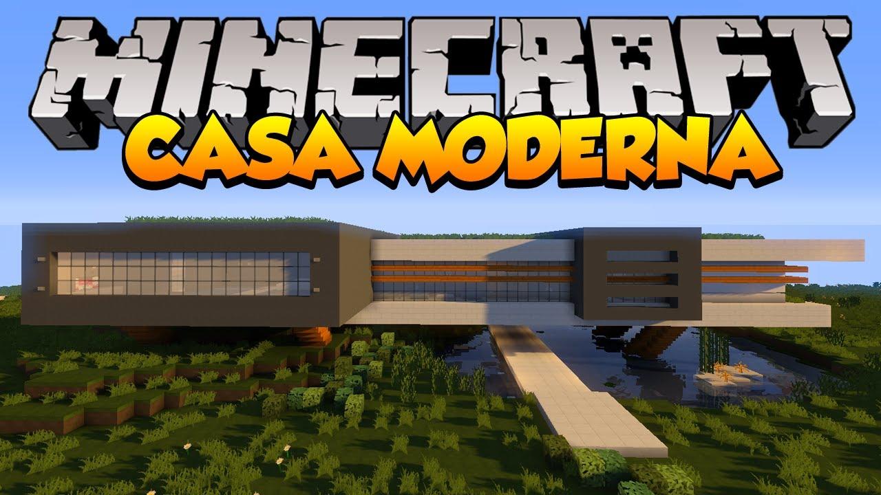 Minecraft mapas casa moderna avalon youtube for Casa moderna 1 8
