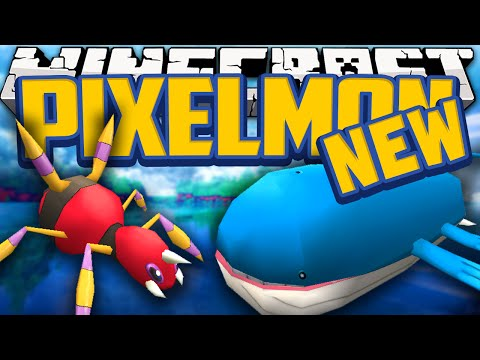 Minecraft Mods NEW Pixelmon Mod Showcase! (Pokemon in Minecraft) Wailord & New Pokemon [1.7.10]