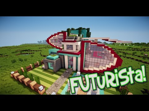 Minecraft casa moderna + descarga! - Casa Futurista! 1.7.x [Casas de Suscriptores]