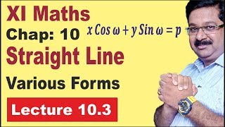 NCERT-XI-Maths-Chap-10.3-Various forms of straight Line- Straight Line