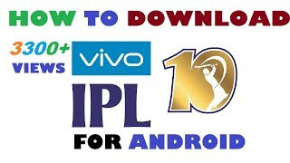 Download How to download vivo IPL 10 cricket game for android in Hindi AK STUDIOS 3Gp Mp4