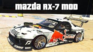 MAZDA RX-7 CUSTOM VEHICLE MOD (Fully Functional!) | GTA 5 PC Mods