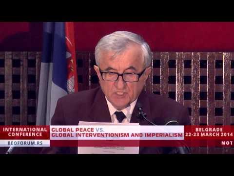 ADMIRAL BOŠKO ANTIĆ (SERBIA) - (Global Peace vs. Global Interventionism and Imperialism)