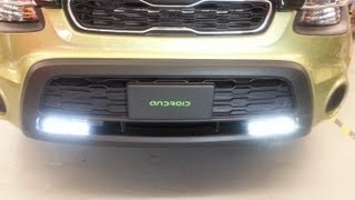 Philips Daylight 8 - 2012 Kia Soul - Philips LED Daylight 8 Daytime Running Lights ( DRL ) DIY