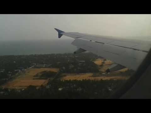 Indigo Airlines A320 landing in trivandrum