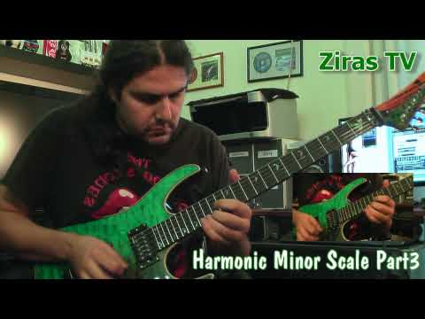 Theodore Ziras Lick of the Week 53-Harmonic Minor Scale Part3 (Solo-Etude)
