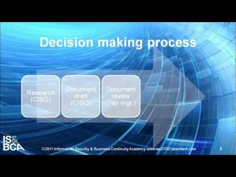 Decision making process | How to Write the ISO 27001 Risk Assessment Methodology