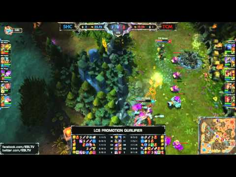 SUPA HOT CREW XD vs TCM-Gaming | 2014 EU LCS Spring Promotion Season 4 | SHC vs TCM
