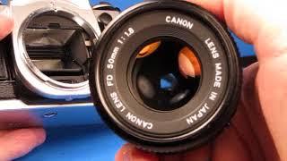 Canon AE 1 Program Camera Testing