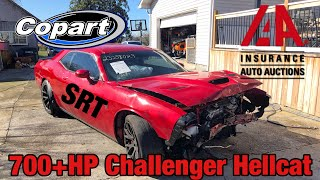I Bought a Wrecked Dodge Challenger Hellcat At Salvage Auction & I'm Going To Rebuild It