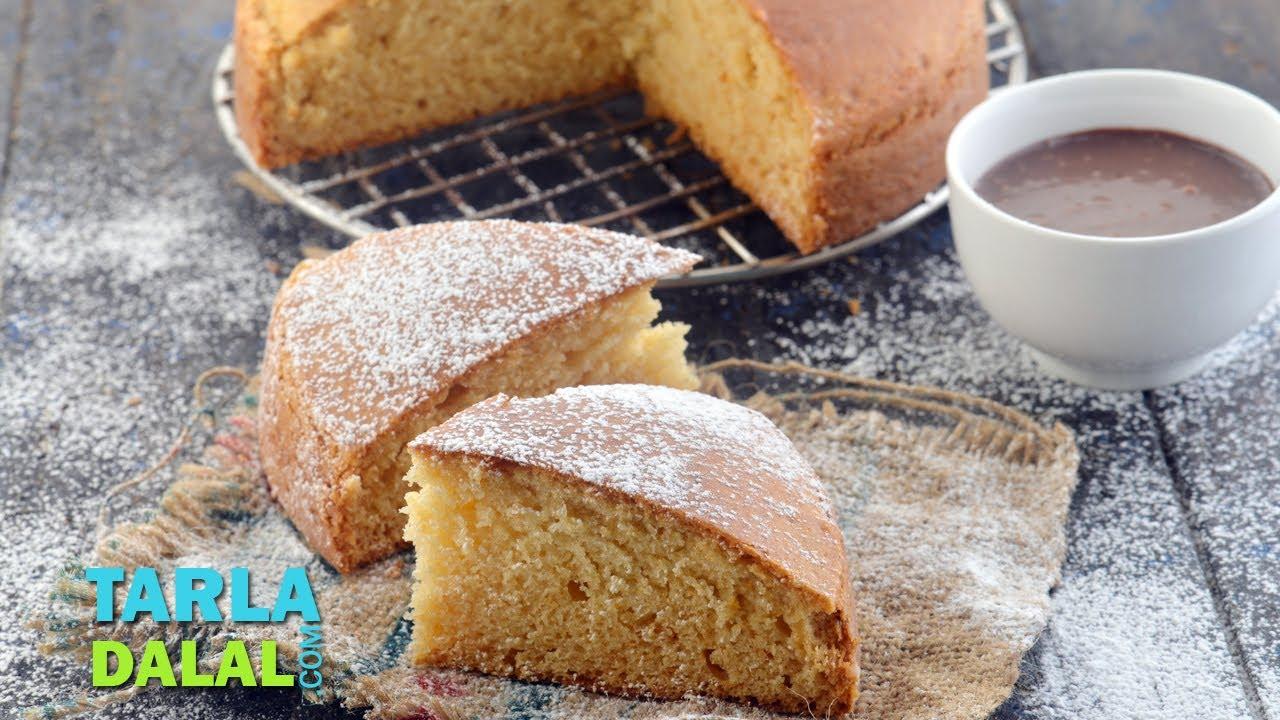 Eggless vanilla sponge cake by tarla dalal youtube for Easy and quick vanilla cake recipe