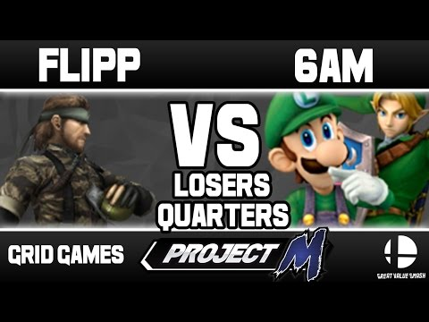 Flipp (Snake) VS 6AM (Luigi/Link) | Grid Weekly Losers Quarter Finals
