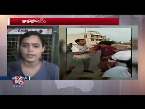 Girl Beats Up Eve Teaser In Rajasthan's Bharatpur, Video Goes Viral | V6 News