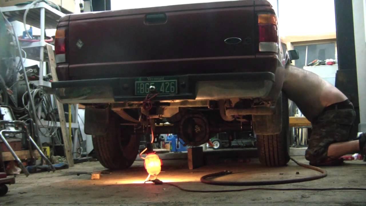 Ford Ranger 8.8 axle swap - YouTube