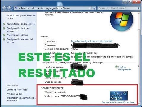 como activar windows 7 cualquier version (32bits  64 bits)