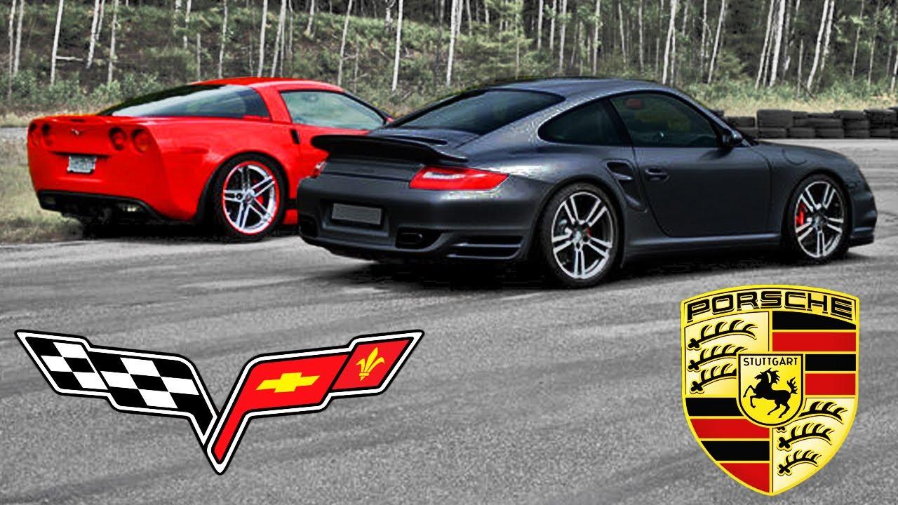 Porsche 997 Turbo >> Corvette C6 Z06 VS. Porsche 997 turbo, 30-180 mp/h | Race x4. - YouTube