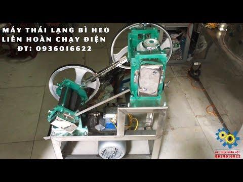 Máy Thái Lạng Bì Heo Liên Hoàn Tự Động 100% INOX(ĐT: 0936016622) Máy làm nem chạo chuyên nghiệp