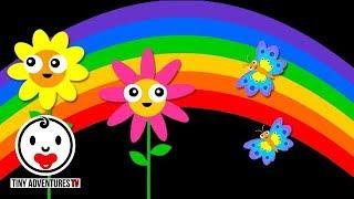 Baby Sensory | Happy Day - Nursery Rhymes | High Contrast Animation (Infant Visual Stimulation)
