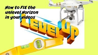 How to FIX the UNLEVEL HORIZON ISSUE Phantom 3