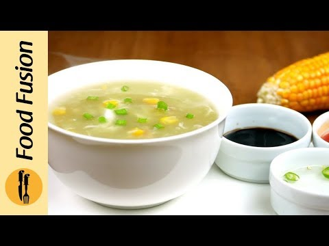 Chicken Corn soup with Homemade Chicken Stock Recipe By Food Fusion