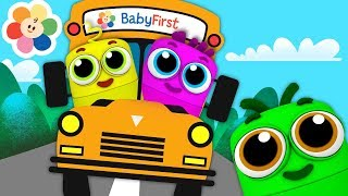 The Wheels On The Bus Remix | Popular Nursery Rhymes Songs With Color Crew Babies | BabyFirst TV