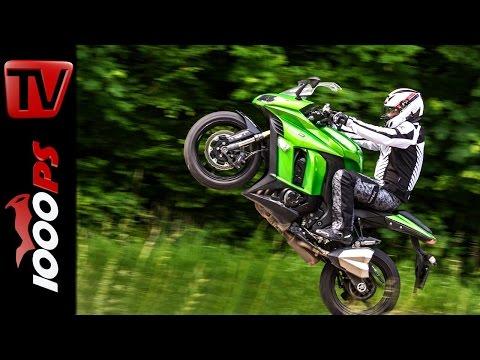 Z1000SX Stunts   Stuntfriday Action   Wheelie Drift Stoppie