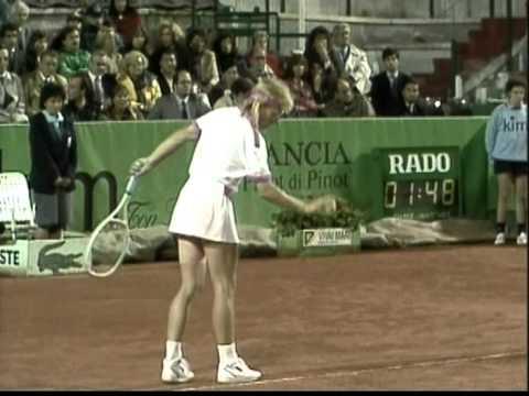 Gabriela Sabatini v Martina Navratilova Rome 1990 pt3