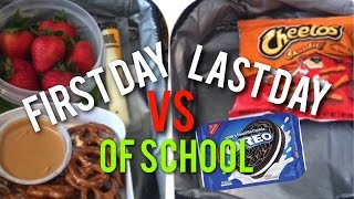 First Day VS Last Day Of School!✏️😂 | SuperSisters