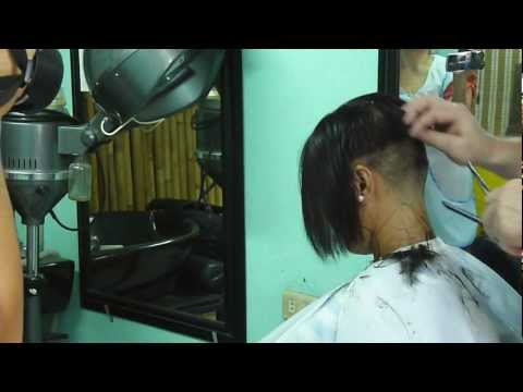 Extreme bob cut at the Barbershop