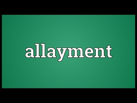 Header of Allayment