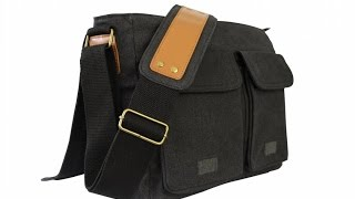 SKORCH Slim Canvas Messenger Bags and Commuter Bags for Men and Women, with Comfortable Shoulder Str