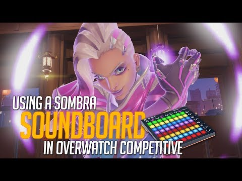 Using a Sombra Soundboard in Overwatch Competitive! (Overwatch Trolling)
