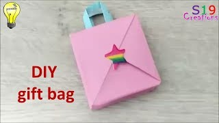 How to make a mini gift bag   paper crafts   origami   kids paper craft ideas to make at home
