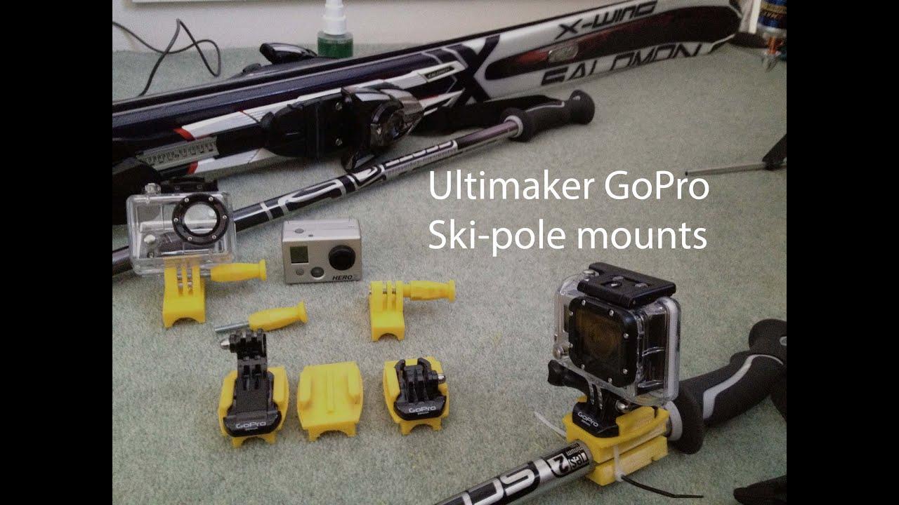 Ski Pole Camera Mount Gopro Hero Ski Pole Mounts
