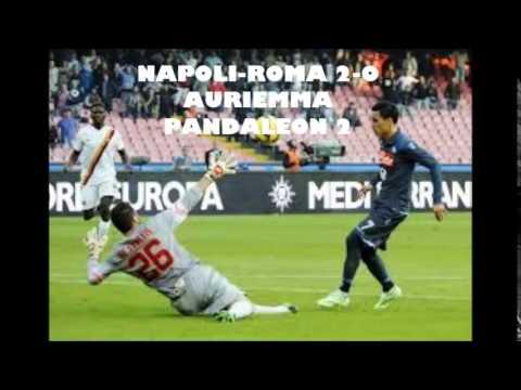 NAPOLI-ROMA 2-0 Auriemma Higuain Callejon gol(01 Novembre 2014)