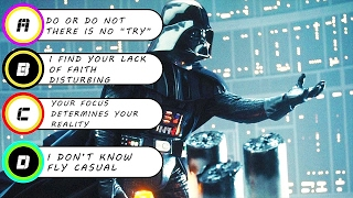20 Questions To Determine If You Are A Jedi Or A Sith?