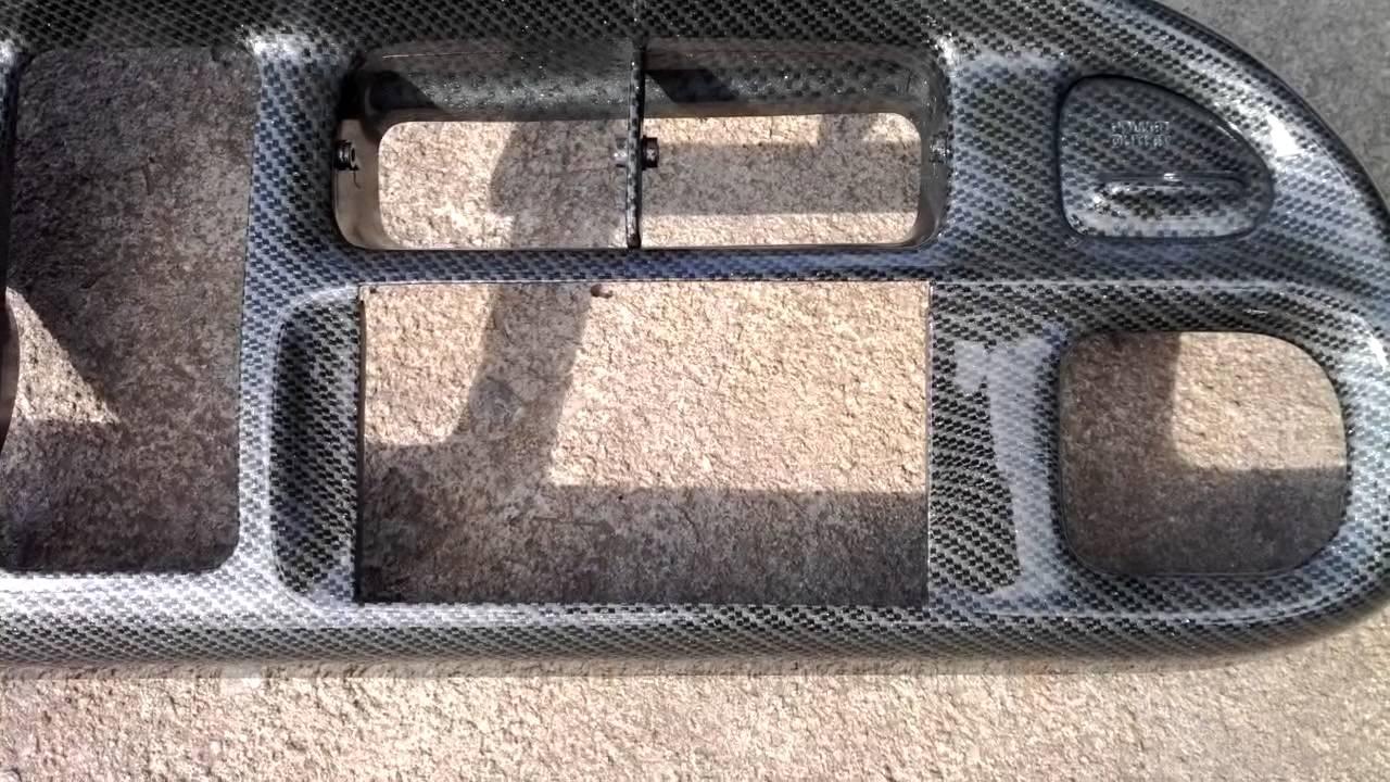 94-01 Dodge Ram double silver carbon fiber hydrodip - YouTube