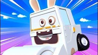 Carl el Super Camión y el Camión Policía en Auto City Louie dibujame un tobogán dibujos animados pa