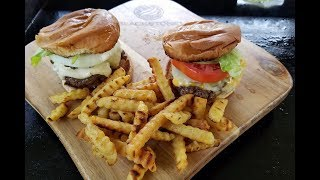 Burgers and Fries on the Blackstone Griddle