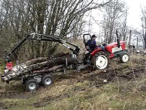 Yanmar tractor with Malwa 350 Grapple loader