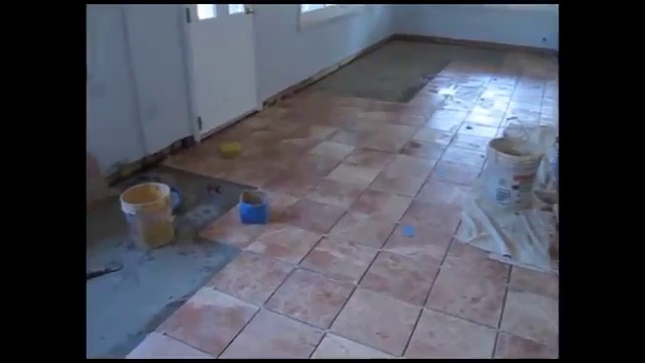 Ceramic Tile Basement Floor Youtube