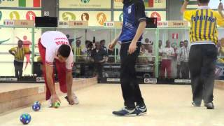 Gianinazzi - Capeti, Individual World Bocce Championships Juniors Final Rome 2015