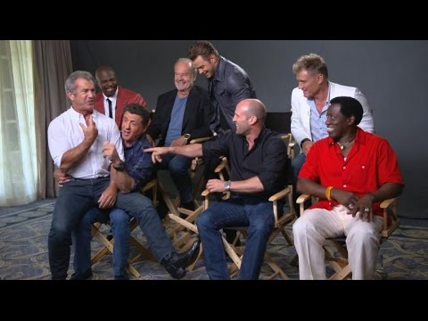Sylvester Stallone, Cast Talk 'the Expendables 3' video
