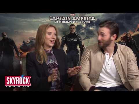 Interview Scarlett Johansson aimerait être Beyoncé ! (Captain America) VO