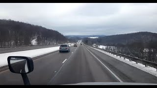 BigRigTravels LIVE! Teays Valley, WV to Covington Township, PA I-64,79,68,81,80,380-Jan. 15, 2019