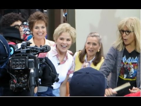 Mom Jeans! Savannah Guthrie, Jenna & Meredith Vieira arriving at the Today Show Halloween Party